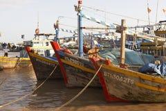 Trois bateaux Photographie stock libre de droits