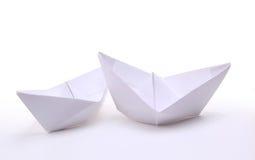 Trois bateaux de papier Photo stock