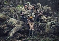 Trois belles dames Images libres de droits