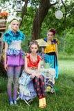 Trois belles dames Photographie stock