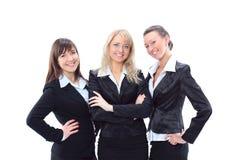 Trois belles femmes d'affaires Images stock