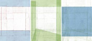 Trois belles textures de fond Photos libres de droits