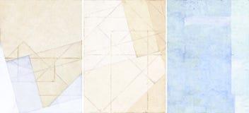 Trois belles textures de fond images stock