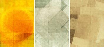Trois belles textures de fond Photographie stock