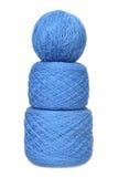 Trois billes d'une laine Photos stock