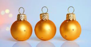 Trois billes de Noël Photographie stock libre de droits