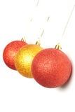 Trois billes de Noël Image libre de droits