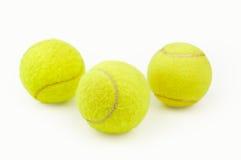 Trois billes de tennis Photos libres de droits