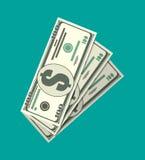 Trois billets de banque du dollar Illustration Stock