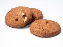 Trois biscuits de chocolat Photo stock