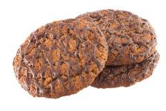 Trois biscuits de chocolat Images libres de droits