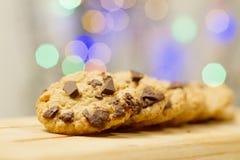 Trois biscuits de chocolat Photographie stock libre de droits