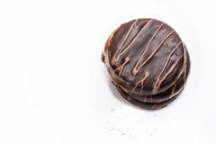 Trois biscuits de chocolat Image libre de droits