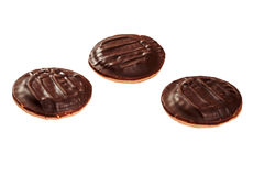 Trois biscuits de chocolat photos stock