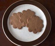 Trois biscuits de souhait de Suédois Images libres de droits