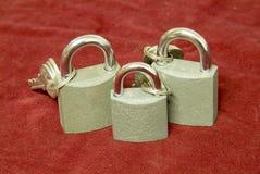 Trois blocages Photographie stock