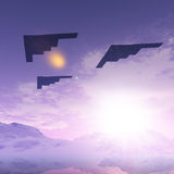 Trois bombardiers B2 Photos stock