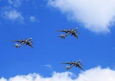 Trois bombersTu-95 et x22 russes ; Bear& x22 ; Image libre de droits