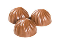 Trois bonbons au chocolat photo libre de droits
