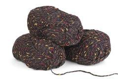 Trois boucles de filé de laines photographie stock
