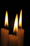 Trois bougies Photos stock