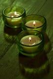 Trois bougies Photo libre de droits