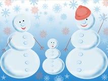 Trois boules de neige illustration de vecteur