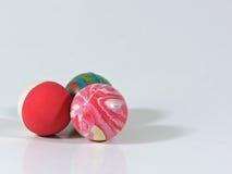 Trois boules en caoutchouc Photo libre de droits