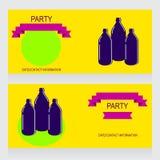 Trois bouteilles Photographie stock