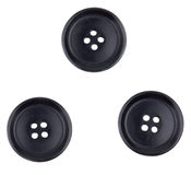 Trois boutons noirs Photos stock