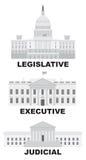 Trois branches d'illustration de vecteur de gouvernement des USA Image libre de droits