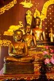 Trois Buddhas d'or Photos libres de droits
