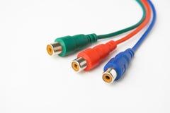 Trois câbles visuels Photo stock