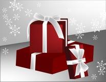 Trois cadeaux Photographie stock libre de droits