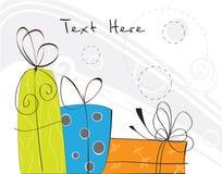 Trois cadeaux colorés Illustration Stock