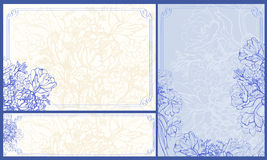 Trois cadres floraux Photographie stock
