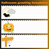 Trois calibres de salutation de Halloween Image libre de droits