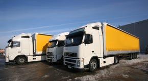 Trois camions Images libres de droits
