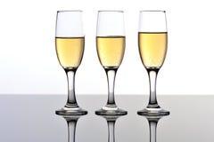 Trois cannelures de champagne/vin Image libre de droits