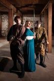 Héros de Moyens Âges avec des épées images libres de droits
