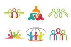 Trois caractères créatifs Logo Design Images libres de droits