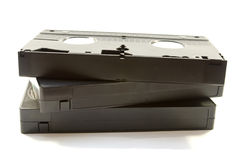 Trois cassettes vidéo Photographie stock