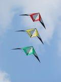 Trois cerfs-volants d'arrêt Image stock