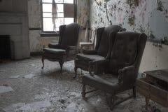Trois chaises Photo stock