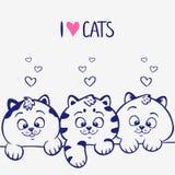 Trois chatons illustration libre de droits