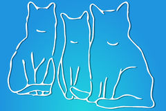 Trois chats Image libre de droits