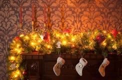 Trois chaussettes de Noël Images stock