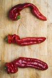 Trois Chilis Image libre de droits