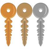 Trois clés Photographie stock libre de droits