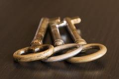 Trois clés image libre de droits